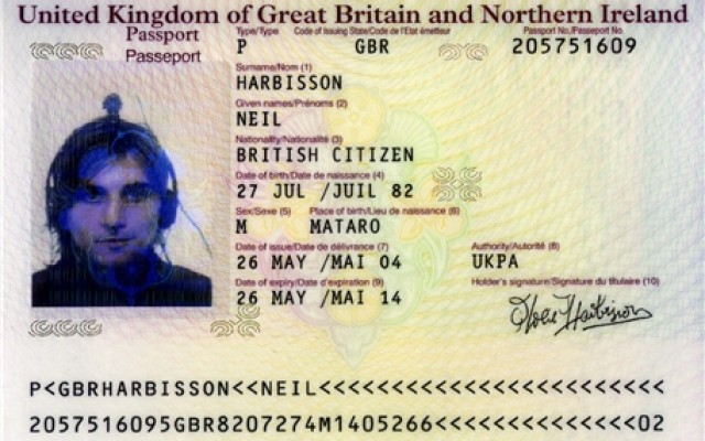 Neil Harbisson Passport