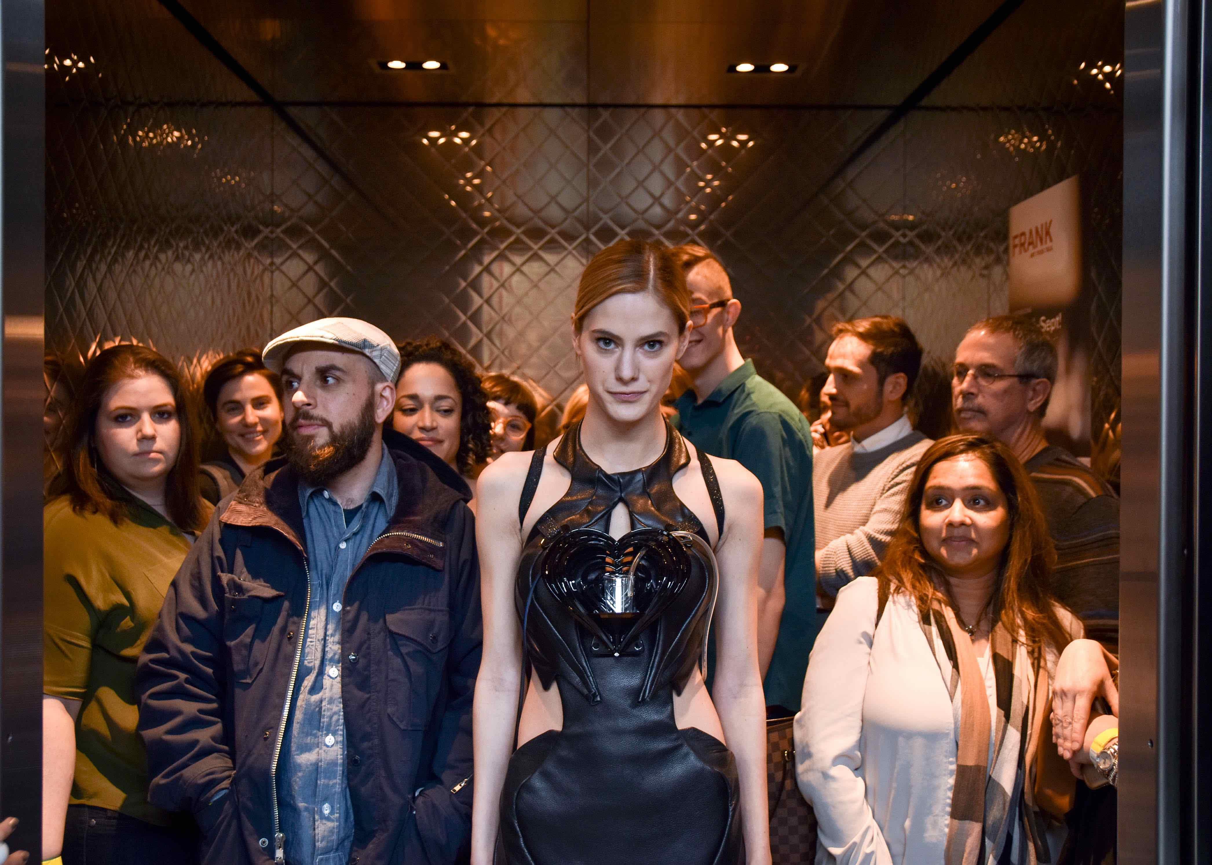 Anouk Wipprecht debuts Drinkbot Dress in Toronto