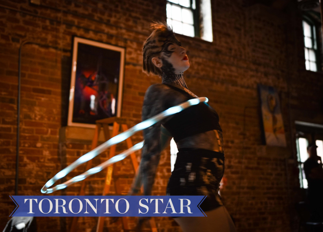 Cover story for the Toronto Star on Cirque-It, a wearable tech fashion circus