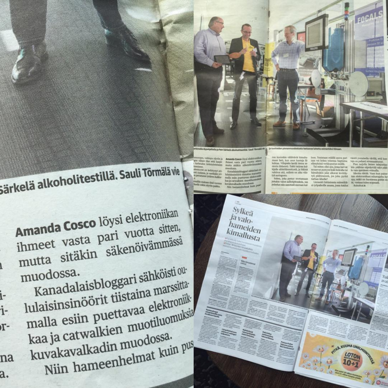 Love for Electric Runway in Finnish Newspaper Kaleva