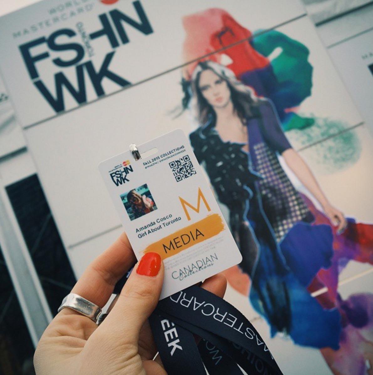 Media pass for Toronto Fashion Week