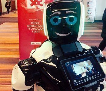 Retail Robot Greeter at Dx3 Canada
